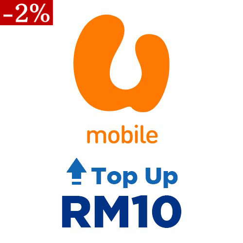 U Mobile Prepaid Online Top Up RM10 (Lowest Price) - AppAsia